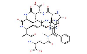 Cyclo[2,3-didehydro-N-methylalanyl-D-alanyl-L-leucyl-(3S)-3-methyl-D-b-aspartyl-L-arginyl-(2S,3S,4E,6E,8S,9S)-3-amino-9-methoxy-2,6,8-trimethyl-10-phenyl-4,6-decadienoyl-D-g-glutamyl]