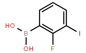 2-氟-3-碘苯硼酸(含有数量不等的酸酐)