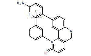 9-(6-氨基-3-吡啶基)-1-[3-(三氟甲基)苯基]苯并[H]-1,6-萘啶-2(1H)-酮