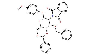 4-甲氧苯基-3-O-苄基-4,6-O-苯亚甲基-2-脱氧-2-苯二甲酰亚氨基-β-D-吡喃葡萄糖苷