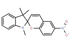 1′,3′-二氢-1′3′,3′-三甲基-6-硝基螺[2H-1-苯并吡喃-2,2′-(2H)-吲哚],1498-88-0