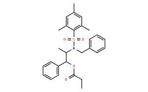 丙酸(1R,2S)-2-[N-苄基-N-(均三甲苯基磺酰)氨基]-1-苯基丙酯