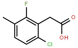 6-Chloro-2-fluoro-3-methylphenylacetic acid