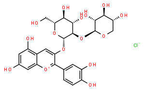CYANIDIN-3-O-SAMBUBIOSIDE°CHLORIDE(AS)