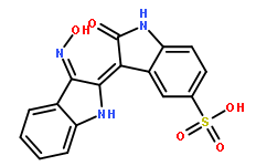 Indirubin-3'-monoxime-5-sulphonic acid