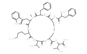 (D-Phe⁵,Cys⁶·¹¹,N-Me-D-Trp⁸)-Somatostatin-14 (5-12) amide