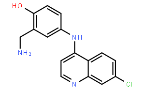 2-(aminomethyl)-4-[(7-chloroquinolin-4-yl)amino]phenol