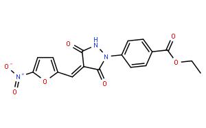 4-[4-[(5-Nitro-2-furanyl)methylene]-3,5-dioxo-1-pyrazolidinyl]benzoic acid ethyl ester