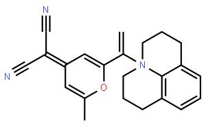 4-(Dicyanomethylene)-2-methyl-6-[2-(2,3,6,7-tetrahydro-1H,5H-benzo[ij]quinolizin-9-yl)vinyl]-4H-pyran  4-(二氰基亚甲基)-2-甲基-6-[2-(2,3,6,7-四氢-1H,5H-苯并[ij]喹嗪-9-基)乙烯基]-4H-吡喃