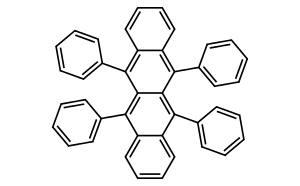 5,6,11,12-Tetraphenylnaphthacene (purified by sublimation) 5,6,11,12-四苯基并四苯(升华提纯)