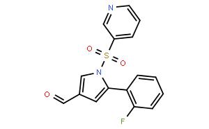 1H-Pyrrole-3-carboxaldehyde, 5-(2-fluorophenyl)-1-(3-pyridinylsulfonyl)-