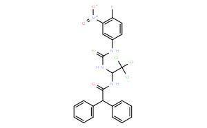 2,2-DIPHENYL-N-(2,2,2-TRICHLORO-1-[3-(4-FLUORO-3-NITROPHENYL)THIOUREIDO]ETHYL)ACETAMIDE