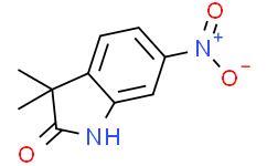 3,3-二甲基-6-硝基吲哚-2-酮