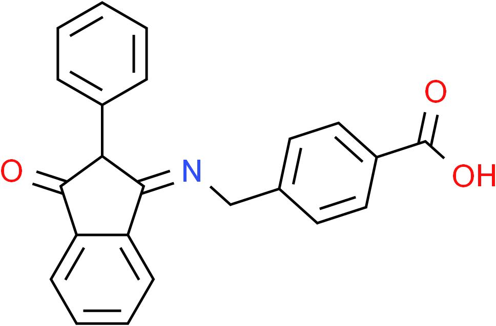 4-{[(3-Oxo-2-phenyl-2,3-dihydro-1H-inden-1-yliden)amino]methyl}benzenecarboxylic acid