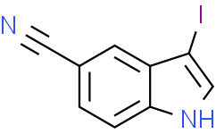 3-碘-1H-吲哚-5-氰基