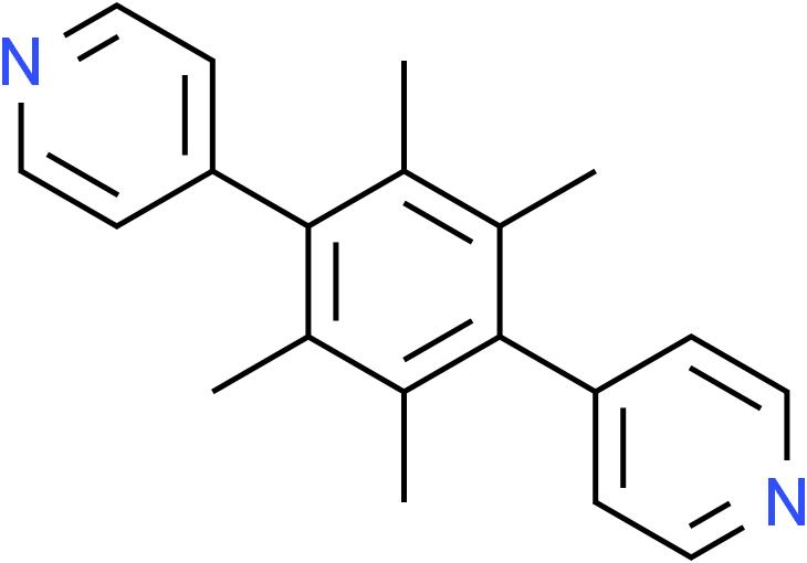 Pyridine, 4,4'-(2,3,5,6-tetramethyl-1,4-phenylene)bis-