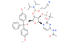N-乙酰基-5'-O-(4,4-二甲氧基三苯甲基)-2'-O-[(叔丁基)二甲基硅基]胞苷-3'-(2-氰基乙基-N,N-二异丙基)亚磷酰胺