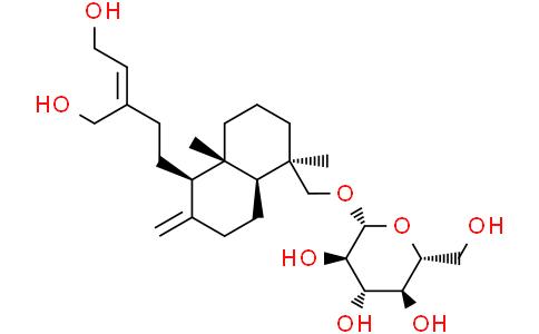 ent-Labda-8(17),13Z-diene-15,16,19-triol 19-O-glucoside
