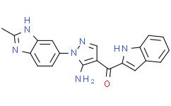 [5-氨基-1-(2-甲基-1H-苯并咪唑-6-基)-1H-吡唑-4-基]-1H-吲哚-2-基甲酮