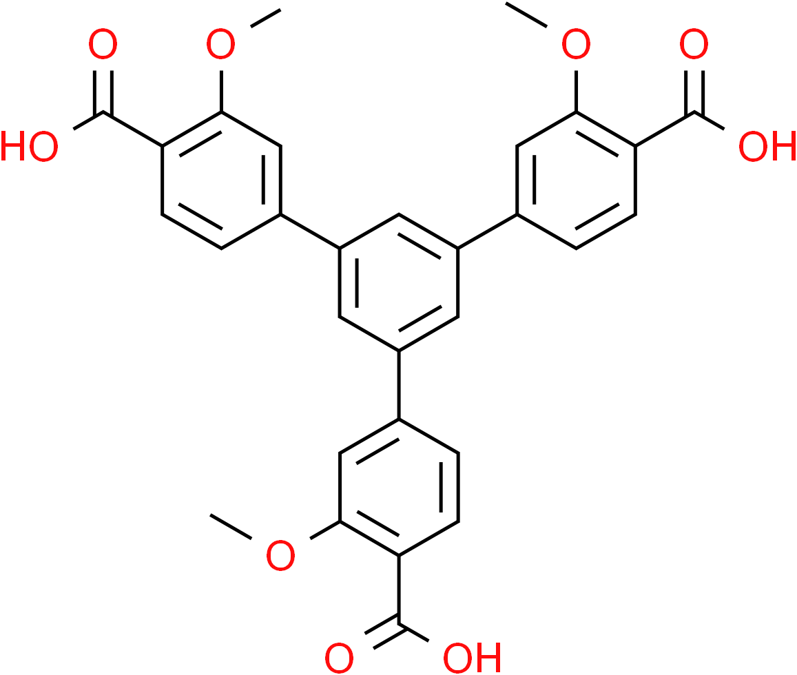 [1,1':3',1''-Terphenyl]-4,4''-dicarboxylic acid, 5'-(4-carboxy-3-methoxyphenyl)-3,3''-dimethoxy-