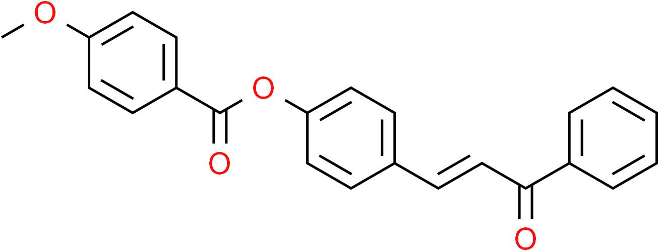 4-(3-Oxo-3-phenyl-1-propenyl)phenyl 4-methoxybenzenecarboxylate