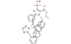 4-(1-羥基-1-甲基乙基)-2-丙基-1-[4-[2-(三苯甲基四氮唑-5-基)苯基]苯基]甲基咪唑-5-羧酸乙酯
