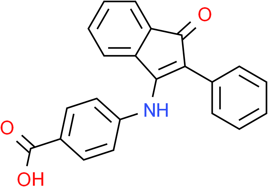 4-[(1-Oxo-2-phenyl-1H-inden-3-yl)amino]benzenecarboxylic acid