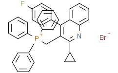 ((2-Cyclopropyl-4-(4-fluorophenyl)quinolin-3-yl)methyl)triphenylphosphonium bromide