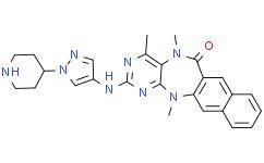 5,13-二氢-4,5,13-三甲基-2-[[1-(4-哌啶基)-1H-吡唑-4-基]氨基]-6H-萘并[2,3-e]嘧啶并[5,4-b][1,4]二氮杂卓-6-酮