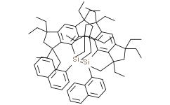 (E)-1,2-双(1-萘基)-1,2-双(1,1,3,3,5,5,7,7-八乙基-1,2,3,5,6,7-六氢二环戊二烯并苯-4-基)二硅烯