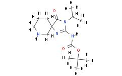(Z)-tert-Butyl (3-isopropyl-4-oxo-1,3,7-triazaspiro[4.5]decan-2-ylidene)carbamate
