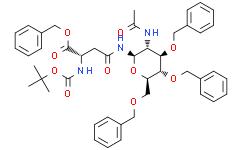 Nω-(2-乙酰氨基-3,4,6-三-O-苄基-2-脱氧-β-D-吡喃葡萄糖酰基)-Nα-Boc-L-天冬酰胺苄酯