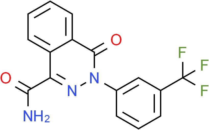 4-Oxo-3-[3-(trifluoromethyl)phenyl]-3,4-dihydro-1-phthalazinecarboxamide