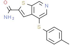 4-[(4-甲基苯基)硫基]噻吩并[2,3-C]吡啶-2-甲酰胺
