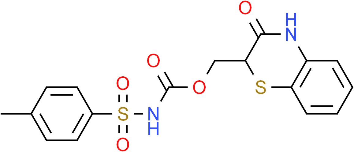 (3-Oxo-3,4-dihydro-2H-1,4-benzothiazin-2-yl)methyl N-[(4-methylphenyl)sulfonyl]carbamate