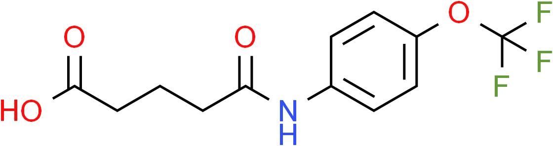 5-Oxo-5-[4-(trifluoromethoxy)anilino]pentanoic acid