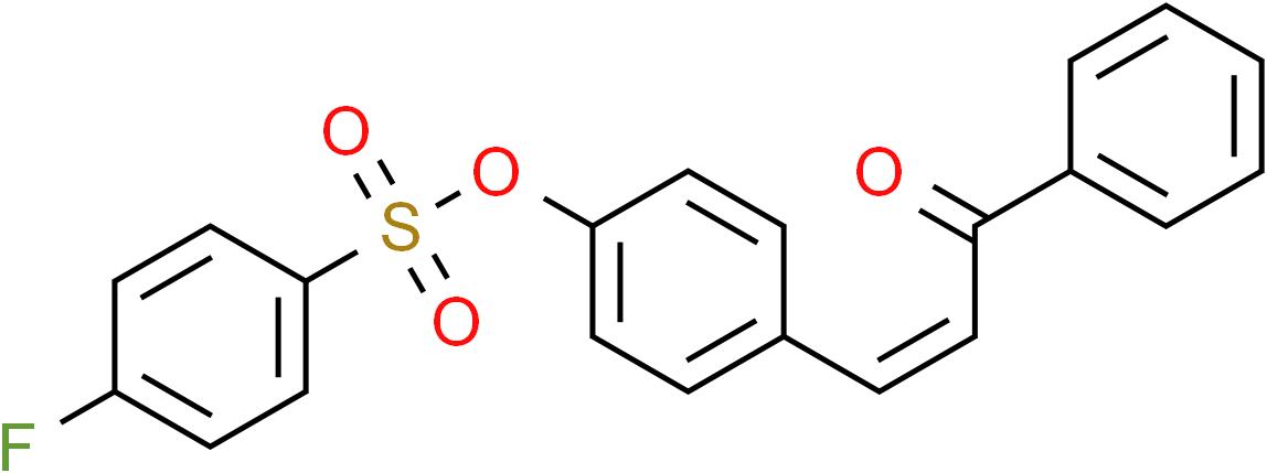 4-(3-Oxo-3-phenyl-1-propenyl)phenyl 4-fluorobenzenesulfonate