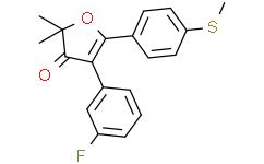 4-(3-氟苯基)-2,2-二甲基-5-(4-(甲硫基)苯基)呋喃-3(2H)-酮