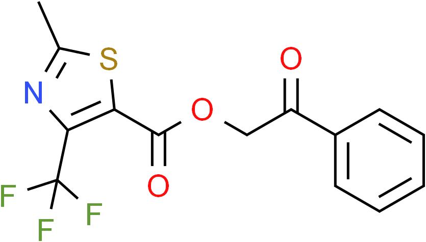 2-Oxo-2-phenylethyl 2-methyl-4-(trifluoromethyl)-1,3-thiazole-5-carboxylate