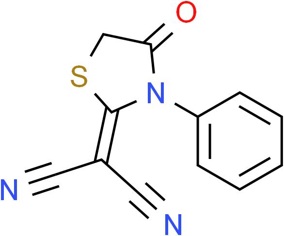 2-(4-Oxo-3-phenyl-1,3-thiazolan-2-yliden)malononitrile