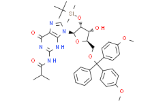 5'-O-[双(4-甲氧基苯基)苯基甲基]-2'-O-[(叔丁基)二甲基硅基]-N-(2-甲基-1-氧代丙基)鸟苷