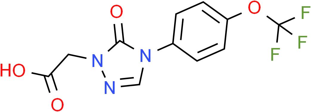 2-{5-Oxo-4-[4-(trifluoromethoxy)phenyl]-4,5-dihydro-1H-1,2,4-triazol-1-yl}acetic acid
