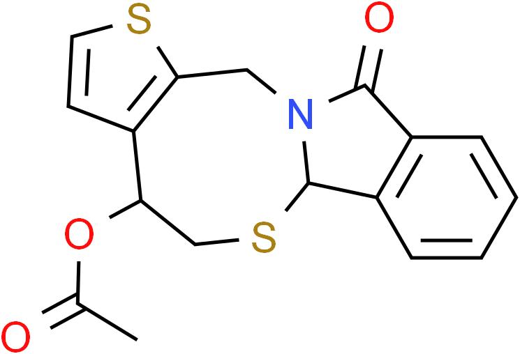 11-Oxo-4,6a,11,13-tetrahydro-5H-thieno[2',3':5,6][1,3]thiazocino[2,3-a]isoindol-4-yl acetate