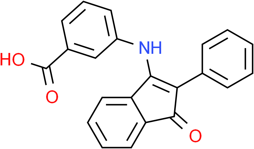 3-[(1-Oxo-2-phenyl-1H-inden-3-yl)amino]benzenecarboxylic acid