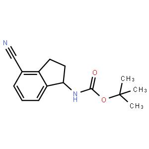 (S)-tert-butyl (4-cyano-2,3-dihydro-1H-inden-1-yl)carbamate