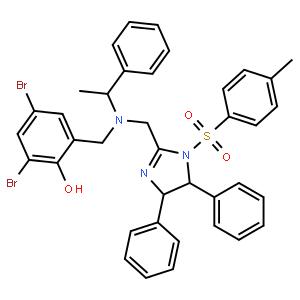 2,4-二溴-6-[[[[(4S,5S)-4,5-二氢-4,5-二苯基-1-甲苯磺酰基-1H-咪唑-2-基]甲基][(S)-1-苯乙基]氨基]甲基]苯酚