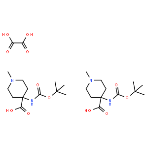 Oxalic acid bis(methyl 4-{[(tert-butoxy)carbonyl]amino}piperidine-4-carboxylate)
