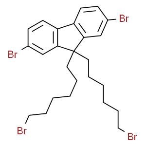 2,7-Dibromo-9,9-bis(6-bromohexyl)fluorene  2,7-二溴-9,9-二(6-溴己基)芴