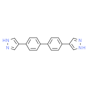 4,4'-bis(1H-pyrazol-4-yl)biphenyl, 4,4'-di(1H-pyrazol-4-yl)biphenyl