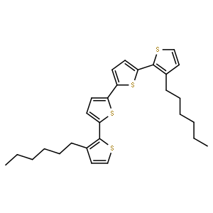 3,3'''-Dihexyl-2,2':5',2'':5'',2'''-quaterthiophene (contains 3% Dichloromethane at maximum) 3,3'''-二己基-2,2':5',2'':5'',2'''-四噻吩 (含≤3%二氯甲烷)